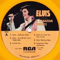 ELVIS PRESLEY A Canadian Tribute Vinyl Record LP US RCA 1978 Gold Vinyl